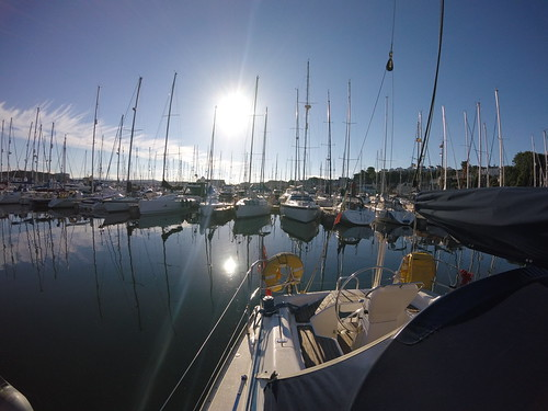 marina sailing sun mast sail sailboat stern