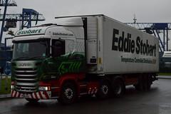 Stobart H2632 PO66 UUJ Ellisha at Widnes 3/3/17 (CraigPatrick24) Tags: eddiestobart stobartgroup stobart road vehicle transport truck lorry trailer delivery logistics cab scania scaniar450 widnes ellisha h2632 stobartfridge fridge po66uuj