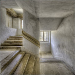 Kirby Hall Stairway 2 (Darwinsgift) Tags: kirby hall stairway northamptonshire architecture english heritage nikkor pc 19mm e f4 nikon d810 hdr photomatix photomerge art photography