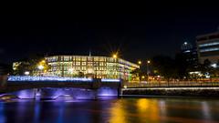 Coleman Bridge (HansPermana) Tags: singapore colemanbridge nightshot night nightscape reflection water river singaporeriver