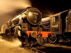 Sherwood in Legends Home (colinirwinphotography) Tags: steam sodium wells winter east elr express five gala legend black black5 buckley bury night sherwood smoke simmer
