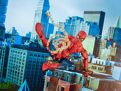 Early morning swing (focus 1) (metaldriver89) Tags: spider spiderman peterparker peter parker marvel legends maverllegends spidey baf acba toys toy actionfigure actionfigures figure figures superhero hero hasbro wallcrawler webhead series new custom web marvellegends amazingspiderman amazing swinging webs action comic nyc mcfarlanewebs thwip photography slinging architecture building black background 2 outdoor hobgoblin villain supervillain wave photoshop mcfarlane sdcc toddmcfarlane webswinging webbing webing mcu homecoming tru toysrus tomholland tom holland