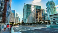 A view from Brickell Bridge, Downtown Miami. (Aglez the city guy ☺) Tags: brickell brickellbridge downtown downtownmiami walking walkingaround architecture afternoon cityscapes city outdoors miamifl miamicity dynamicperspective