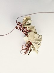 a short story. (Ines Seidel) Tags: crochet wire paper text texture pattern copper line story storytelling illustration