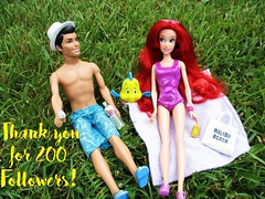 Thank you 200 followers! (flores272) Tags: thankyou ariel disney arieldoll princecharming doll dolls toys toy flounder sebastian outdoors 200 barbie barbiedolphinmagic dollcloths barbieclothes thelittlemermaid