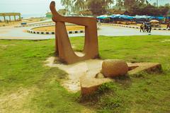 Shankumugham (Ajith Panayil) Tags: statue shankumugham beach kerala trivandrum green road man waiting people travel