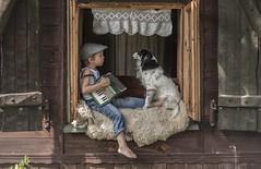 (Jagoda 1410) Tags: childhood childrensphotography childphotography childdog childandpet dog dogchild doglover summer window kidsandanimals kidsonthefarm kidsactingnatural music friendship whenwordsfailmusicspeaks