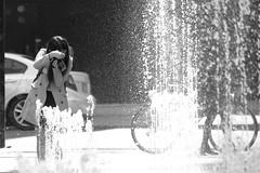 Girl with camera (Chi Ken Yeung) Tags: nikon28300mm nikond750 toronto yongedundassquare blackandwhite