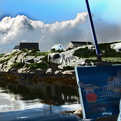 Another Cove Interpretation (photo fiddler) Tags: paintthecove artists painters peggyscove canada july 2017