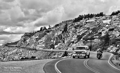 July 16 2016 - Riding the west side switchbacks of the Beartooth Highway (La_Z_Photog) Tags: 071616beartoothandredlodge lazy photog elliott photography motorcycles harley davidson beartooth pass highway mountains rally red lodge montana party bikers babes