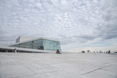 Two best friends at Oslo Opera House, Norway (Ingunn Eriksen) Tags: oslooperahouse oslo norway children bestfriends bestfriendsforever clouds sky marble architecture europe