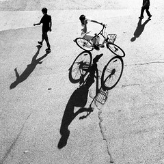 Fly visions~ Shanghai (~mimo~) Tags: square blackandwhite photography street bicycle birdseyeview shadow china shanghai