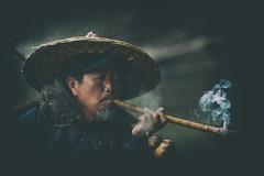 知心 (Anna Kwa) Tags: cormorantfisherman moment smoke pipe liriver yangshuo guilin guangxi china annakwa nikon d750 afsnikkor70200mmf28gedvrii my heart always sorrow want seek abandon regret seeing soul throughmylens portrait 知心 詩經 analogefexpro2