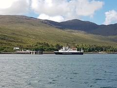 MV Lochnevis arriving at Rum Pier