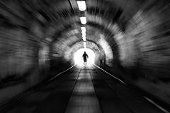 Zoom (Birdhouse camper) Tags: copenhagen denmark tunnel zoom blur blackandwhite blackwhite fujifilm fuji fujixt2 street silhouette