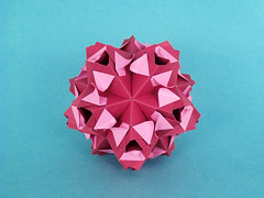 Машуня, с днем рождения!! (masha_losk) Tags: kusudama кусудама origamiwork origamiart foliage origami paper paperfolding modularorigami unitorigami модульноеоригами оригами бумага folded symmetry design handmade art