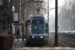 Sequenza di Attesa Binaria (Roberto -) Tags: turin torino tram fog rail waiting nikon 55200 d3200