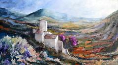 Primavera nel Chianti (decio40) Tags: gallery2017 125x70 oliosutavola pittore pittura tecnicaaspatola postmacchiaioli chianti