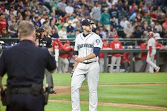 James Paxton comes off the mound (hj_west) Tags: baseball philadelphiaphillies seattlemariners safecofield mlb interleague stadium night sports