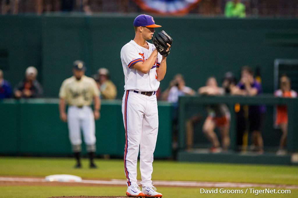 Clemson Photos: Alex  Eubanks, 2017, Baseball, vanderbilt