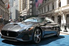2018  Maserati  GranTurismo MC Visits the New York Stock Exchange (Automotive Rhythms) Tags: closingbell fcau fiatchrystlerautomobilesnv maseratigranturismo maserati corse new york stock exchange grigio granito ceo reid bigland 2018 granturismo makes its world debut in alfieri concept