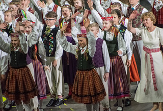 young dancers greet their public