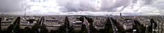 Vue panoramique sur Paris (auréliemaupilé) Tags: vue panoramique panorama paris toureiffel ladéfense tours arcdetriomphe immeubles rues étoile