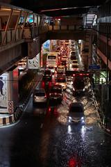Wet rush hour (Thomas Mulchi) Tags: bangkok thailand 2017 traffic nightshot rushhour rain flooded trafficjam trafficcongestion cars transport krungthepmahanakhon th