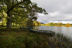 The quiet place (jeansinclair1) Tags: scotland perthshire staredam bankfoot boat trees water