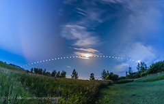 Arc of the Summer Moon (Amazing Sky Photography) Tags: fullmoon rising arc composite motion multipleexposure path prairie setting summermoon timeexposure timelapse