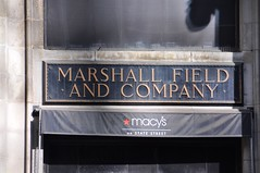 4-013 Marshall Fields Sign (megatti) Tags: chicago departmentstore il illinois macys marshallfields