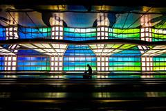 Chicago Blues (Thomas Hawk) Tags: america chicago illinois michaelhayden ohareinternationalairport skysthelimit usa unitedairlines unitedstates unitedstatesofamerica airport neon fav10 fav25 fav50 fav100