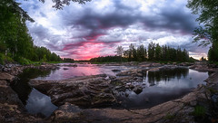 Koiteli cloudy Sunrise (M.T.L Photography) Tags: mtlphotography mikkoleinonencom riverkiiminkijokisunrise landscapepanorama river sky rocks stream water sun early morning brightsummernight trees