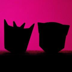 Cuff-Pinks (156/365) (robjvale) Tags: hmm macromonday silhouette purple transformers decepticons autobots cartoon logo crest badge cufflinks