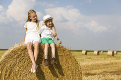 Children in a hay field (DenverDownsFarm) Tags: 10years 7years agriculture bale carefree caucasian cheerful child childhood children childrenonly clearsky cloud colorimage copyspace country couple embracing family female field friends friendship fulllenght groupofpeople happiness happy hat hay haystack healthylifestyle heterosexualcouple horizontal landscaped lifestyle littleboys littlegirls male nature nonurbanscene outdoors people photography playful playing relaxation rolledup ruralscene sitting sky smiling summer togetherness twopeople wheatfield young clouds cultivatedland day land sunhat wheat