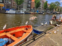Amsterdam Old Town (ome.henk) Tags: boot boat canal gracht grachtengordel prinsengracht jordaan amsterdam