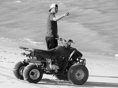 That way (thomasgorman1) Tags: vehicle atv person man beach water sand baja desert sea ocean cortez mexico