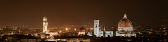 Florence by Night (bigmike.it) Tags: firenze florence night notte panorama tamron 150600 stitched duomo cupola cathedral notturno giotto bell tower dom