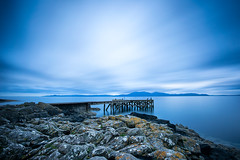 firth of clyde (D Cation) Tags: scotland ayrshire portencross firthofclyde arran night 10stop leebigstopper