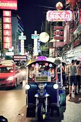 Taxi for hire (lynhdan) Tags: totallythailand earthasia streetphotography street urban thailand bsngkok city night lynhdanphotography tuktuk