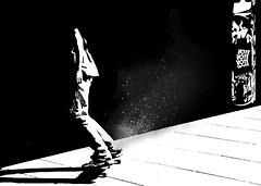 I think the World is Black & White 3.0 (Jay Cloud) Tags: black white philosophy duality pleasure pain suffering happy sad silhouette skater skateboard skateboarding law skate london southbank waterloo blackwhite