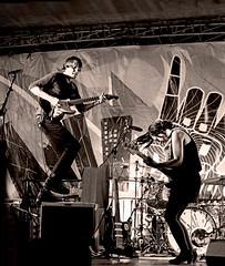 The Ponys (kirstiecat) Tags: jeredgummere melissaelias theponys garagerock indierock psychedelic band live music concert sepiatone dodivision headliner ukrainianvillage wickerpark westtown chicago supportlocalmusic loadedwithromance festival rockandroll monochrome monochromemonday