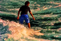 Surfing the river (driver Photographer) Tags: surfing oilpainting