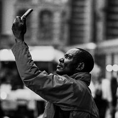 damsquare (Peter du Gardijn) Tags: amsterdam streetphotography blackandwhite urban phone cellphone man arm netherlands europe square contrast selfie