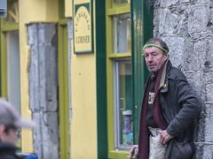 Evergreen (Frank Fullard) Tags: frankfullard fullard evergreen green galway candid street portrait head headband yellow battered irish ireland tough rough character