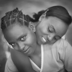 Mamas (mckenziemedia) Tags: mama mother caretaker caregiver blackandwhite faces square monochrome ethiopia ethiopian hawassa ebenezergracechildrenshome orphanage women woman portrait face people two facialexpression love adult interaction embrace togetherness family