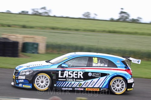 Aiden Moffat in BTCC action at Croft, June 2017