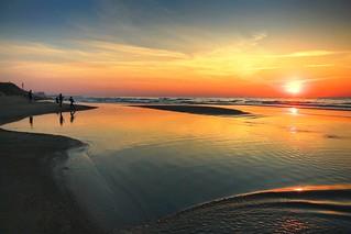 Watching the sunset - Tel-Aviv beach