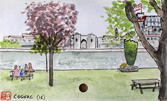 La France des Sous-Préfectures 16 (chando*) Tags: aquarelle watercolor croquis sketch france