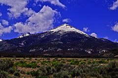 The Rule of Thirds (oybay©) Tags: great basin national park jeff davis peak mount wheeler nevada snake range united states mountain outdoor cloud baker ruleofthirds hiking snow hill landscape ridge mountainside nv spring sky